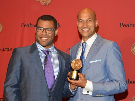 Jordan Peele (left) and Keegan-Michael Key receive a George Foster Peabody award earlier this year. Is an Emmy next?