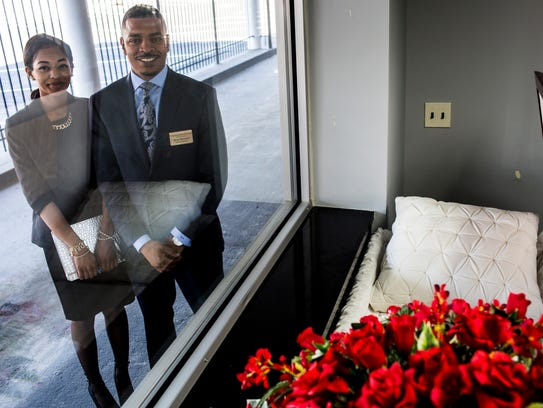 Ryan Bernard (right) funeral director and owner of