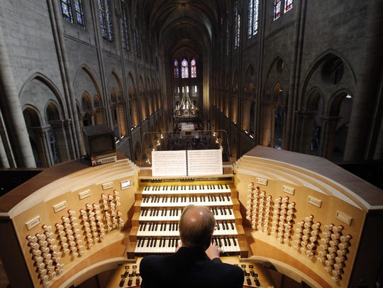 Philippe Lefebvre, 64, plays the organ in 2013 at Notre