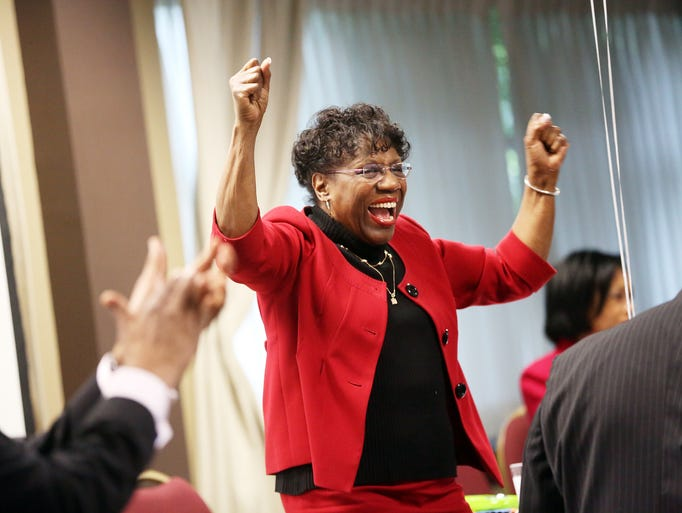 Longtime legislator Margaret Carter is honored at a retirement party at the Ambridge Event Center in Portland.