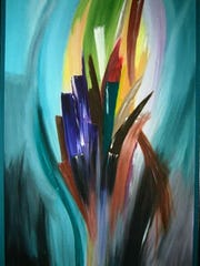 """WOW"" by Sandi Highley will be featured during First Thursday at Rose Court, 125 E Charles."