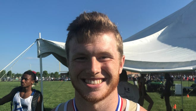 Lancaster senior Spencer Smith placed third in the discus on Wednesday during the Division I regional meet at Pickerington North. Smith qualified for his first state meet.