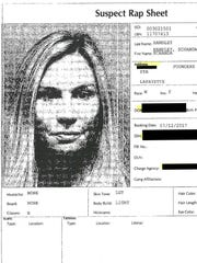 The booking report for Schanda Handley from July 2017 in Lafayette Parish.