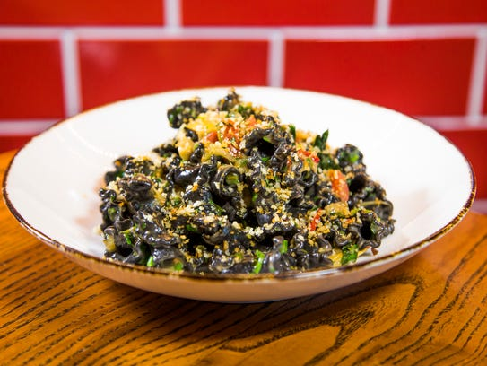 This is the black campanelle from Mora Italian, an