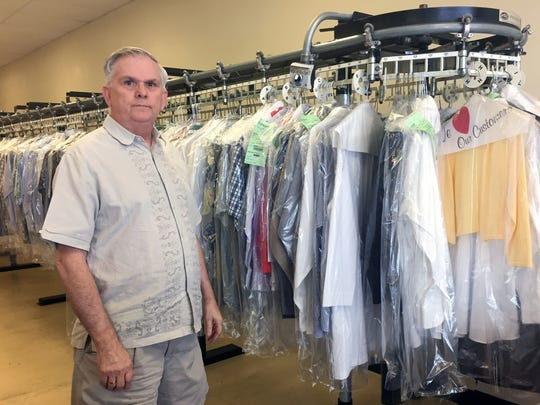 Lloyd Strickland, owner of Monterey Cleaners at East