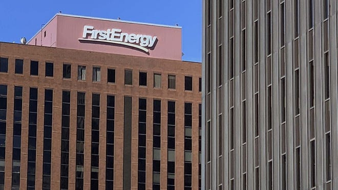 FirstEnergy Corp. at Cascade Plaza in downtown Akron; Wednesday, July 29, 2020.