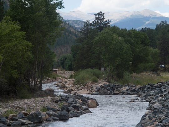 The Big Thompson River flows near Drake Wednesday,