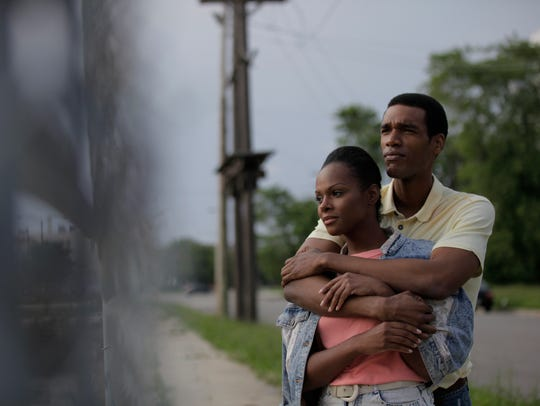 """Tika Sumpter and Parker Sawyers in """"Southside with"""