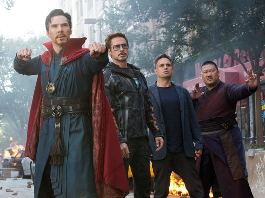 "The Marvel superheroes of ""Avengers: Infinity War"""