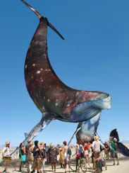"A rendering of the Pier Group's ""Space Whale"" project,"