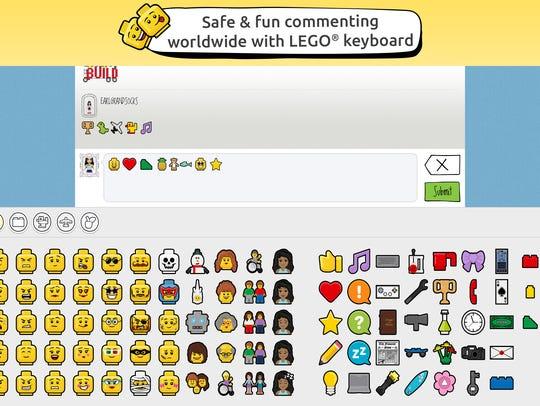 Lego Life emoji keyboard.