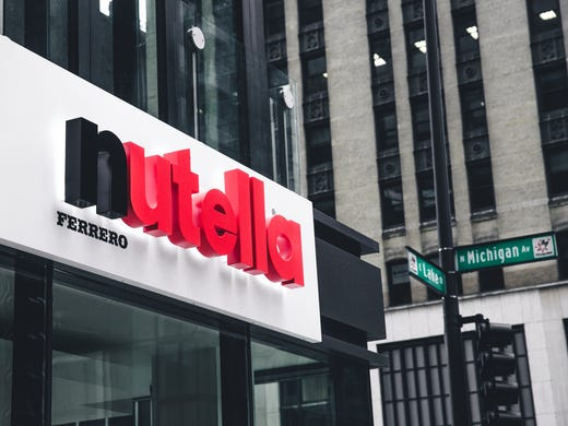Nutella Café opens its doors today on the Chicago s 916f31265