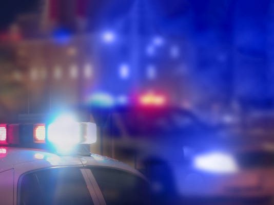 Crime scene blurred law enforcement and forensic background