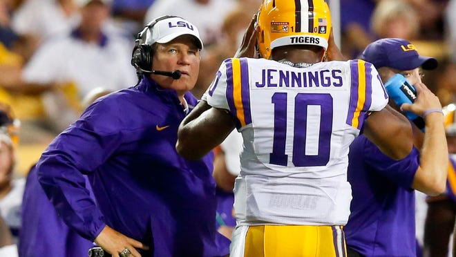Former LSU starting quarterback Anthony Jennings was one of five Tigers football players arrested in 2015. Charges were later dropped against three of them, including Jennings.