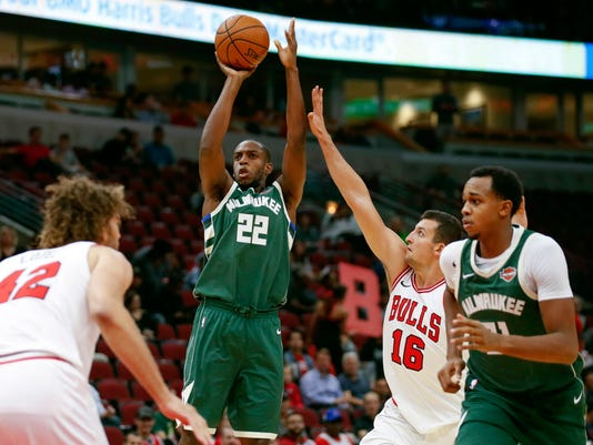 NBA: Preseason-Milwaukee Bucks at Chicago Bulls
