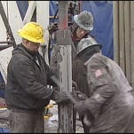 Workers on a fracking rig