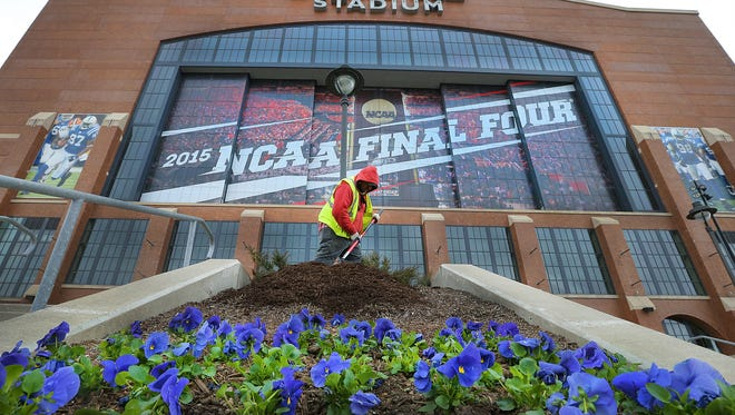 The NCAA men's Final Four starts Saturday at Lucas Oil Stadium.