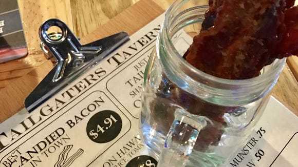 Tailgaters Tavern in Suntree has candied bacon on the menu.