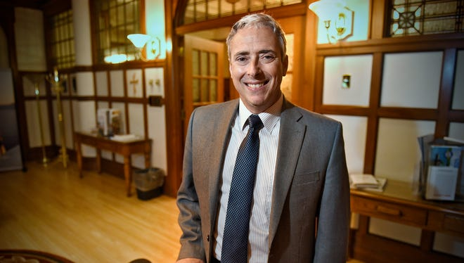 College of St. Benedict and St. John's University vice president of planning and public affairs  Jon McGee was recently elected to the College Board trustees. He is pictured Tuesday, Nov. 17 at the College of St. Benedict in St. Joseph.
