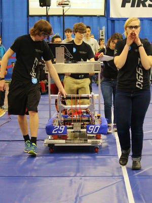 Aumsville based Hotwire Robotics 2990 competes in the 36-team 2016 Season FIRST Robotics Competition held in Wilsonville last week. The team is preparing for its next competition, the 29-team, regional-qualifying Philomath event to be held March 24-26.