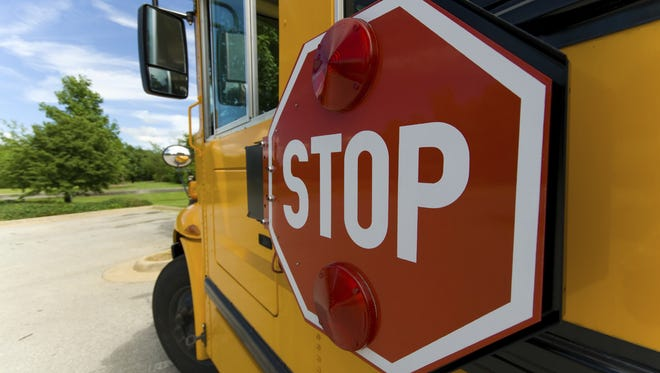 Lafayette authorities are investigating a crash involving a school bus.