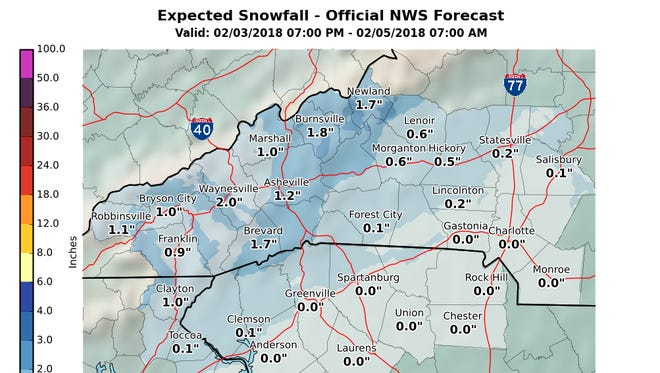 Snow isn't in the forecast for Greenville this weekend.