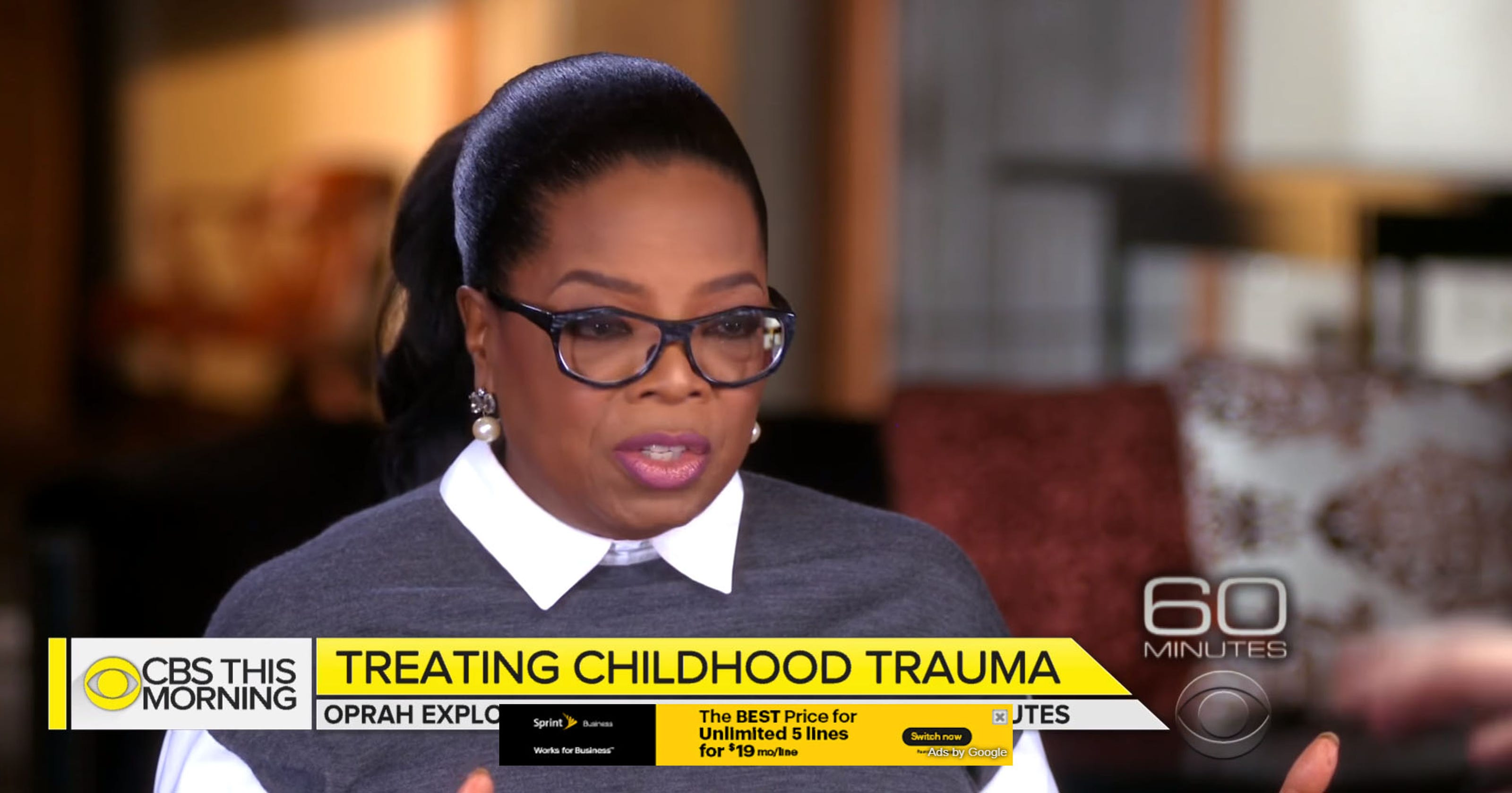 Oprah on 60 Minutes: Childhood trauma in Milwaukee will be ...  Oprah on 60 Min...