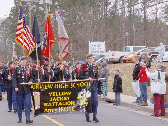 The Fairview High School JROTC will be among the participants