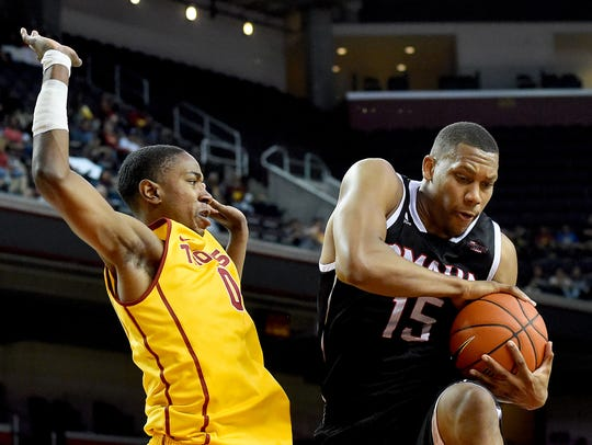 Tre'Shawn Thurman, show playing against USC while at Omaha, becomes eligible for Nevada next season.