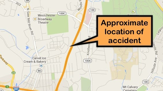 Motorcycle crash on southbound Sprain Brook Parkway north of I-287 snags traffic for miles.
