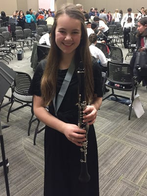 Muir Middle School eighth-grader Julia Salvati performed with the Michigan School Band and Orchestra Association's Middle School All-State Band in Grand Rapids.