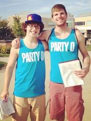 Chris Schierl, Party.0 Oshkosh campus coordinator (left),