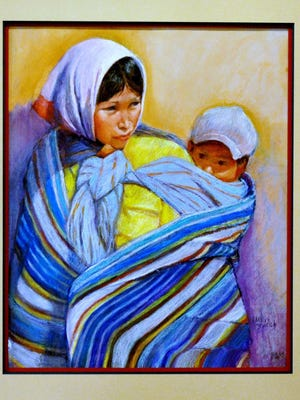 "Carolyn Bunch, whose ""Sierra Madre""  is shown here, is known for her sensitive, colorful portraits of Borderland women."