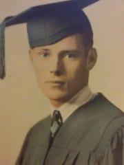 Gene Haley in 1944 Metuchen High School graduation