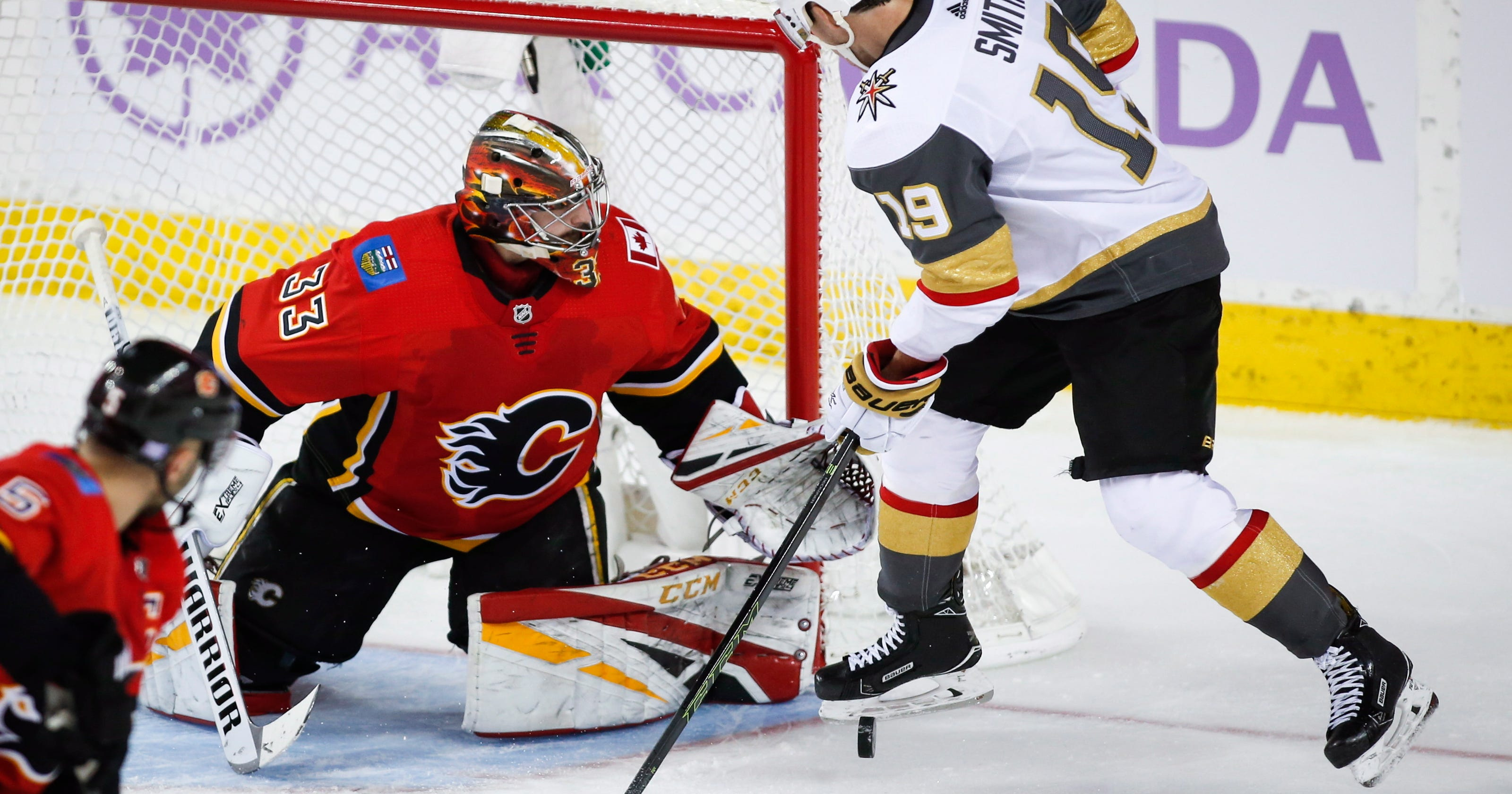 Flames Race To Seven Goal Lead Defeat Golden Knights 7 2