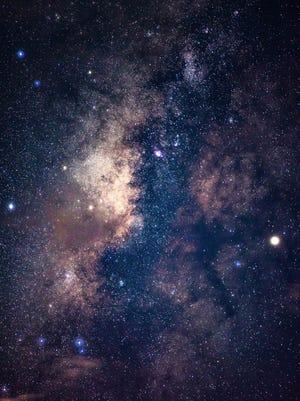 Photo of Guam's night sky  with Saturn next to the Scorpio constellation.