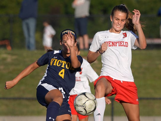 Penfield's Grace Murphy, right, is expected to be one