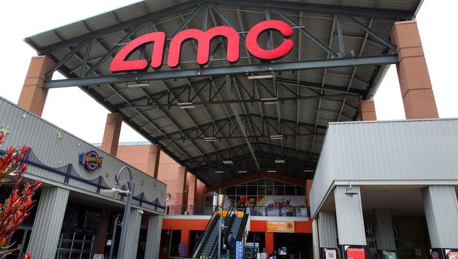 Entrance to AMC Bay Street 16 theater is seen on Wednesday, June 20, 2018, in Emeryville, Calif. AMC Theatres recently announced a new subscription service to rival competitor MoviePass.