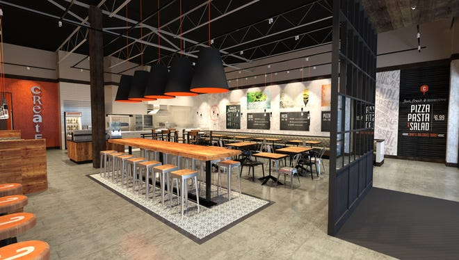 Rendering of the interior of the new Cucinova location in Kenwood