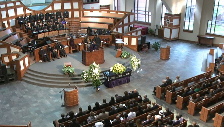 Funeral service for Nicholas Thomas
