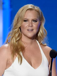 In this Jan. 17, 2016 file photo, Amy Schumer accepts