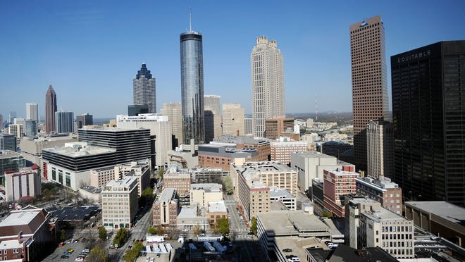 The Atlanta skyline is shown on March 17, 2011.