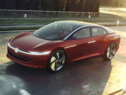 Based on the MEB platform, the Volkswagen I.D. VIZZION concept showcases sedan design of the future Concept car features an electric all-wheel-drive system delivering 302 horsepower and an anticipated range of up to 413 miles on the European cycle