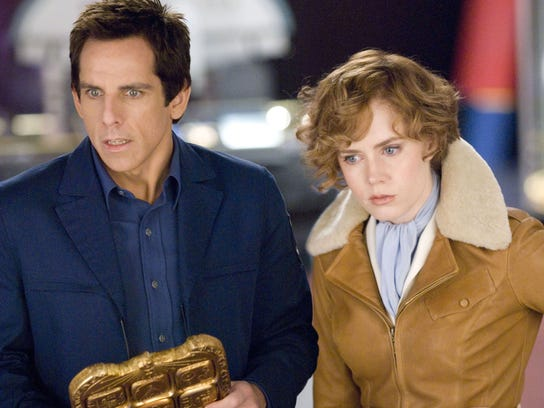 "Amy Adams as Amelia Earhart, with Ben Stiller, in ""Night"