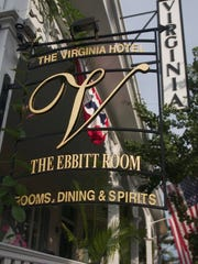 The bar at the Ebbitt Room, part of the Virginia Hotel