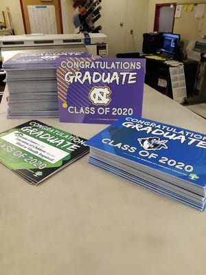 Graduates of the Class of 2020 from Lourdes Central Catholic, NCECBVI,  and Nebraska City High School may pick up a special yard sign tomorrow (April 22) from 4 to 6 p.m. in Steinhart Park, courtesy of the Nebraska City Community Foundation Fund.