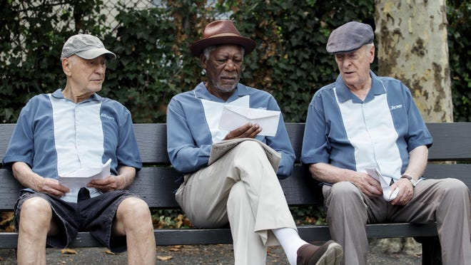 """From left, Alan Arkin, Morgan Freeman and Michael Caine appear in """"Going in Style."""" The movie opens Thursday at Regal West Manchester Stadium 13, Frank Theatres Queensgate Stadium 13 and R/C Hanover Movies."""