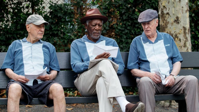 """Michael Caine, Alan Arkin and Morgan Freeman in """"Going in Style."""""""