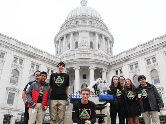 Pewaukee Robotics Team at the Capitol