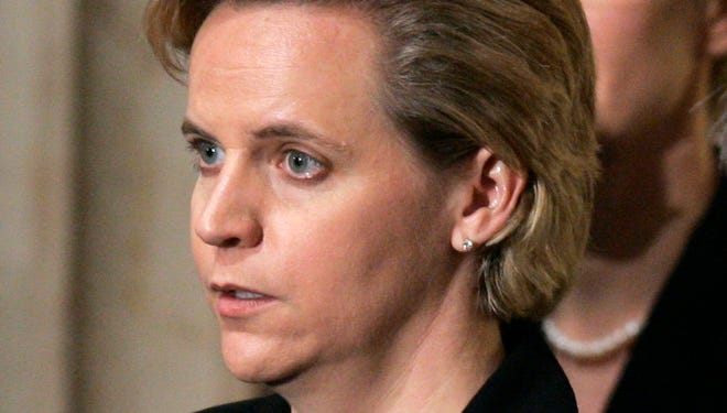 Mary Cheney, the daughter of former Vice President Dick Cheney, on Wednesday rallied opponents of an effort to write Indiana's gay marriage ban into the state constitution.